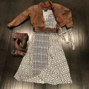 Lucky Brand Printed Wrap High-Low Dress price firm